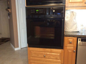 "27"" black wall oven"