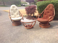 Ruttan chairs and coffee table