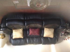 Reclining sofa with love seat