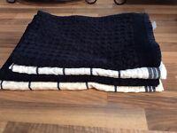 8 black & cream tea towels 4 new