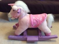 Pink Unicorn Pony Rocking Horse Toy For Babies and Toddlers