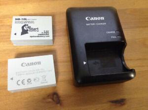 Chargeur Canon et 2 batteries