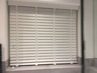 Artic White Faux Wood Blind