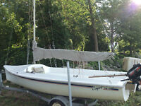 Beautiful Catalina Capri 17.5ft - Great Condition - trailer incl