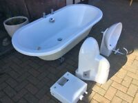Bath tub, Basin and Wall Mounted Toilet