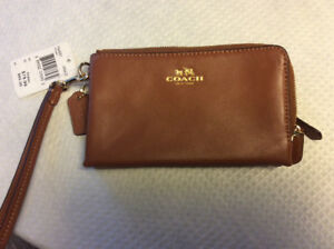 Brand new Coach double zip wristlet