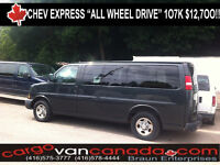 █ ♣ █ ALL WHEEL DRIVE ★EXPRESS SAVANA ★ PASSENGER / CARGO