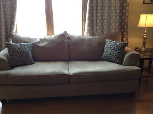 Taupe Microfiber Couch