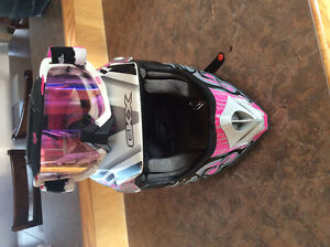 Helmet with matching goggles