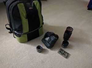 Nikon D80 Camera with Grip and Lenses