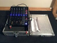 Behringer DJx750 professional mixer with cables