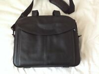 Leather Dell laptop bag