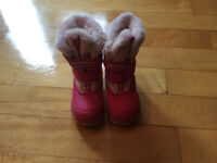 Little girls cougar winter boots size 8