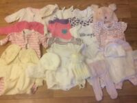 Girls' baby clothes bundle 0-3 months