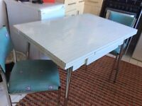 1950's All Original Supermatic Extending Table and 2 Chairs Rare