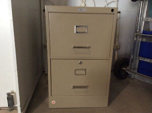 Two-drawer filing cabinet