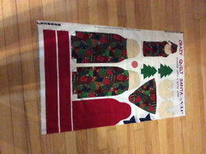 Crazy Quilt Santa - sewing panel