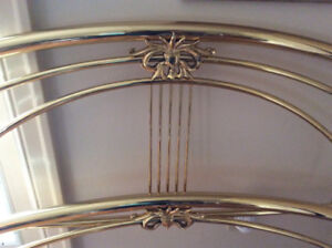 **Sold** Solid Brass Bed - Queen Size