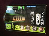 WAHL Triple Play Rechargeable Shaver,Trimmer & Detailer