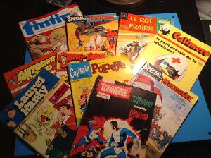 vieilles bandes dessinées européennes