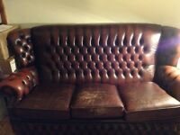 Chesterfield 3 seater deep button sofa