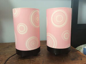 2 Pink Table Lamps