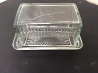 Vintage Glass Butter Dish