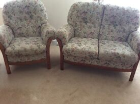 Two seater and chair