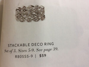 Stackable deco ring -new