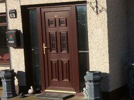 Mahogany PVC Door