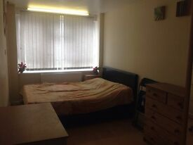 Double room for rent available for couples or working professional .