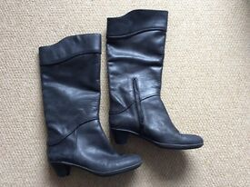 Genuine Camper women's black leather boots. Size 6