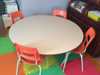 School table and chairs
