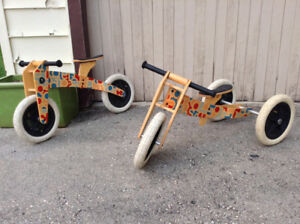 Wishbone 3 in 1 Wooden Balance Bike/Trike