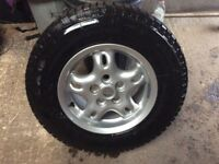 16 inch Range Rover tyre and rim