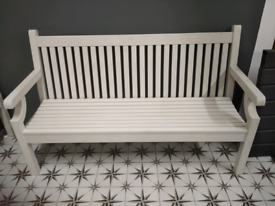 Winawood 3 seater white bench with marks