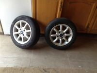 Ford KA 2 alloy wheels and tyres 165/65/14 £15.00 each