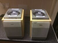 A pair of Phillips speakers