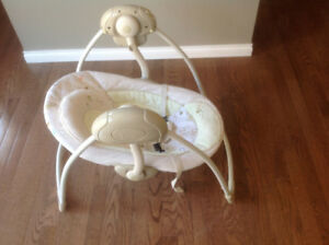 Bright Starts portable infant swing.