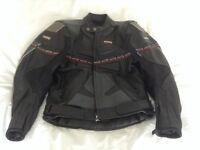 Akito leather motorbike jacket size 42