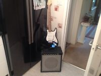 Strat type guitar with Marlin amp