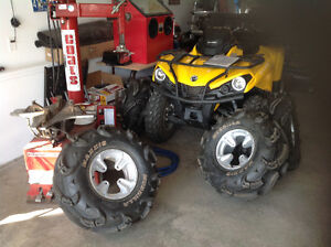 ATV tire install and tire repair