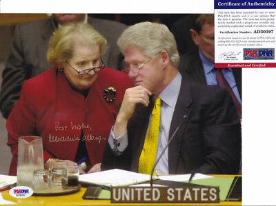Madeleine Albright Secretary Of State Signed Autograph 8X10 Photo Psa Dna Coa 11