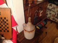 Old jug lamp