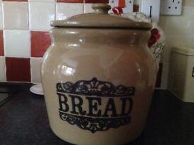 Stoneware Bread Storage.