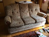 3 Piece Suite comprising 3 seater sofa and 2 armchairs