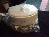 Beautiful White Ceramic Breadbin