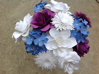 paper flower bouquets and large paper flowers for backdrops