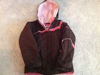 Columbia Girl's Pink/Brown winter jacket size 10/12