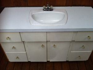 Bathroom Vanity, Sink and Taps